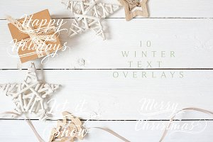 Winter/Christmas Text Overlays