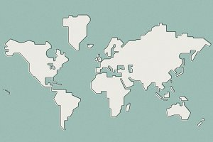 World Map Simple Vector