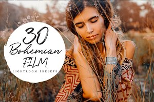 +30 Bohemian Film Lightroom Presets