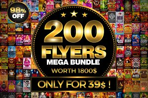200 Flyer Templates Bundle 98% OFF !