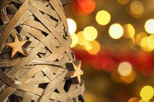 Christmas wood tree and stars