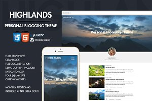 Highlands - Personal Blogging Theme