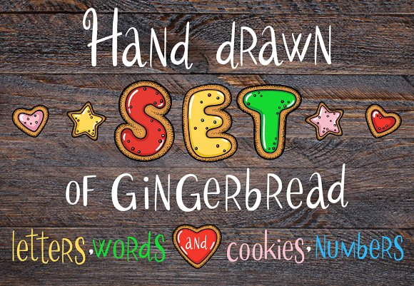 Christmas gingerbread set + BONUS!