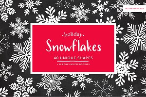 Holiday Winter Snowflakes