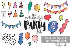 The Watercolor Party Set