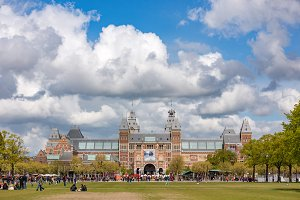 The Rijksmuseum in Amsterdam.