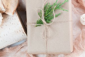 Brown Paper Christmas Package