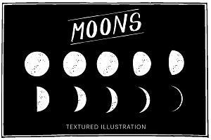 Textured Moon