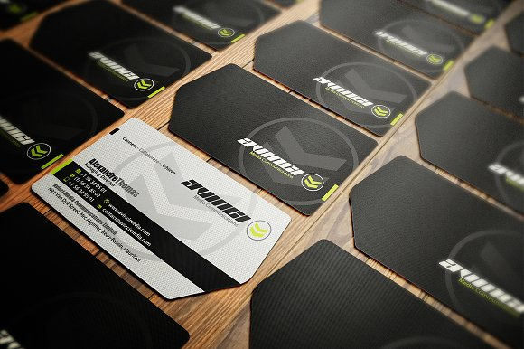 Die cut business card business card templates creative market cheaphphosting Gallery