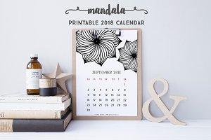 2018 Calendar: Mandala (Std)