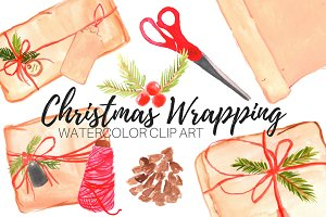 Christmas Wrapping Paper Clip Art