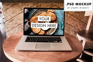 Photoshop laptop mockup