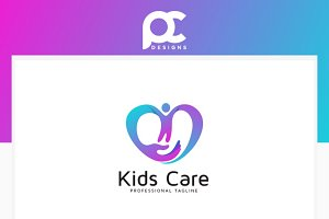 Kids Care Logo Template