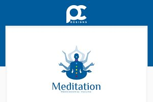 Meditation Yoga Logo Template