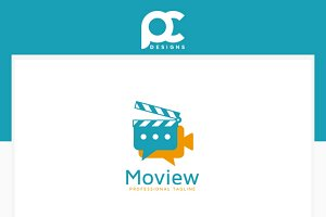 Movie Review Logo Template