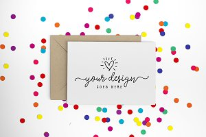 Bright confetti greeting card 30-005