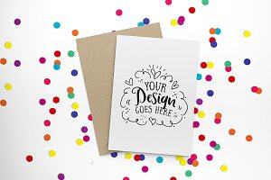 Bright confetti greeting card 30-006
