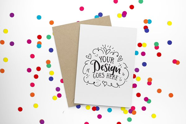 Bright confetti greeting card 30-00…
