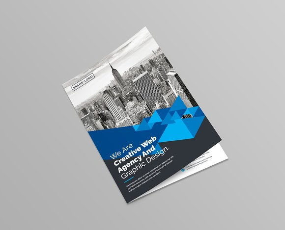 BiFold Brochure Template Brochure Templates Creative Market - Bi fold brochure template