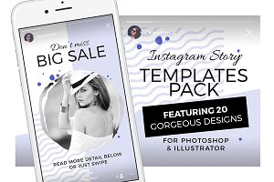 Instagram Stories Templates Pack
