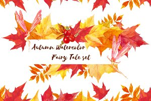 Autumn Watercolor  Fairy Tale  set