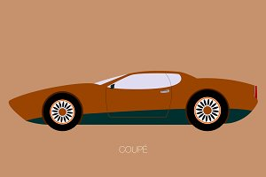 coupe classic car icon