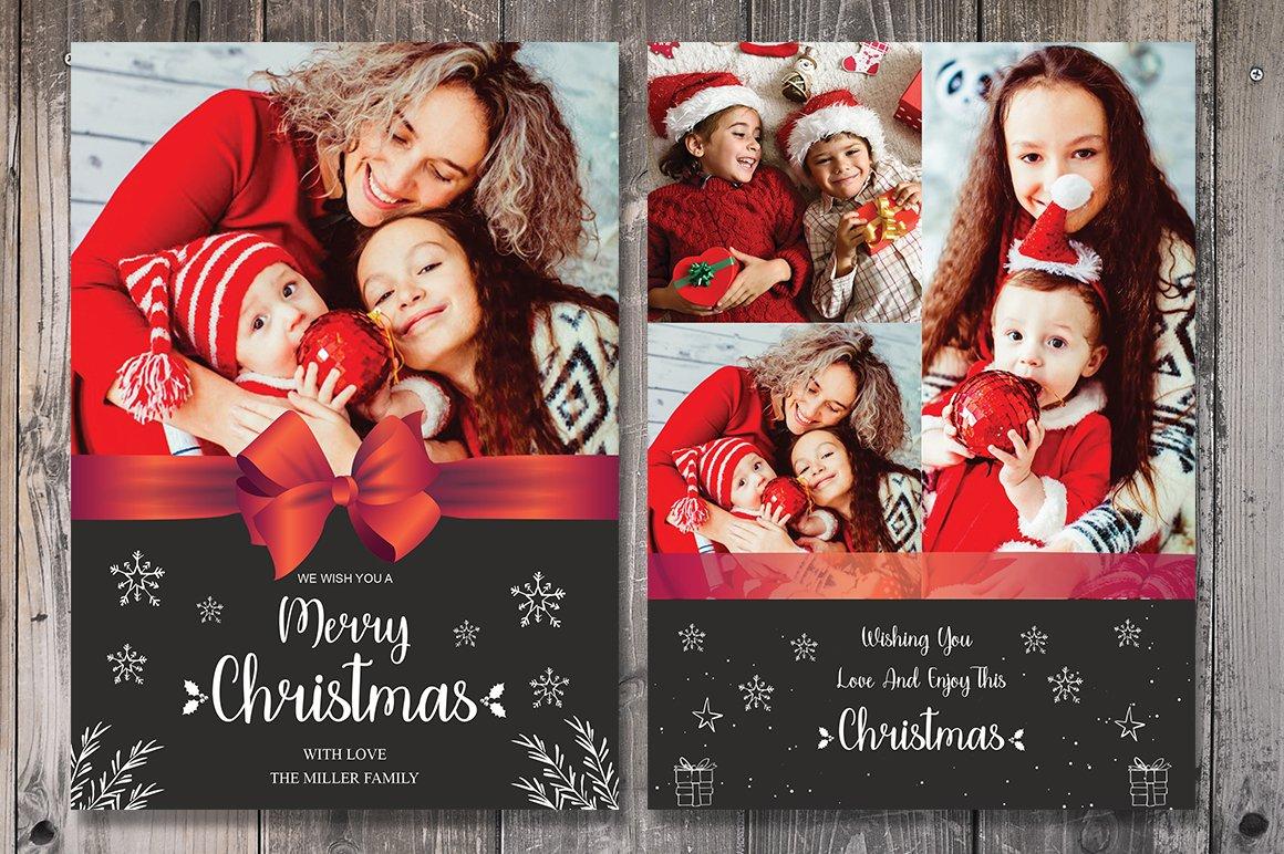 christmas card template card templates creative market