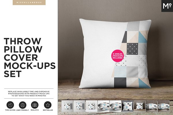 The Pillow Cover Mock-ups Set