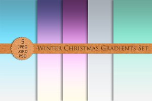 WINTER CHRISTMAS GRADIENTS Photoshop