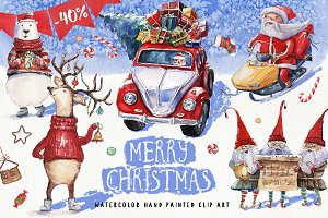 40% OFF Watercolor Christmas Pack