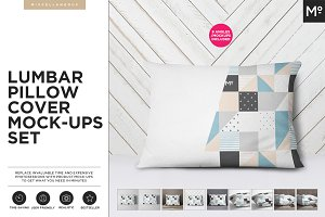The Lumbar Pillow Cover Mock-ups Set