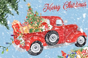 Christmas clipart CHRISTMAS TRUCK