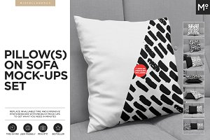 Pillow on Sofa Mock-ups Set