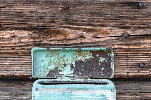 Vintage old mailbox