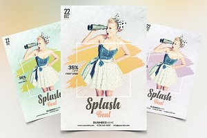 Splash Beat - PSD Flyer Template