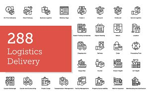 288 Logistics Delivery Icons