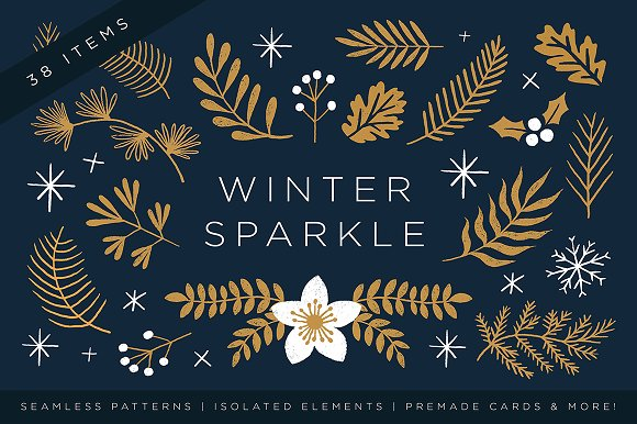 elegant christmas graphic set - Elegant Christmas