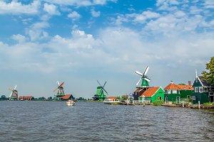The famous Windmills Zaanse Schans.
