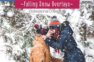 Falling Snow Overlays