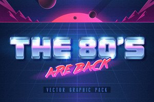 The 80's. Vector Graphic Set.