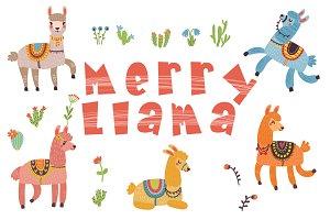 Merry Llama vector set