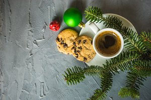 Christmas coffee concept