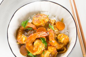 Japanese shrimp curry