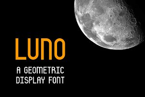Luno - A Geometric Display Font