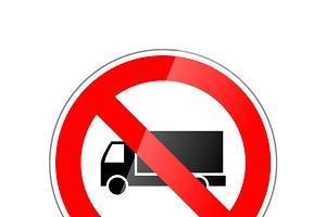 Trucks not allowed, forbidden sign