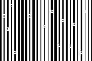 Black and white barcode pattern