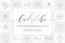 Ladylike Premade Brand Logo Pack