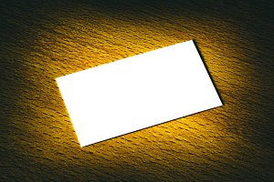 A white card