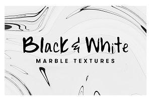 10 Black & White Marble Textures