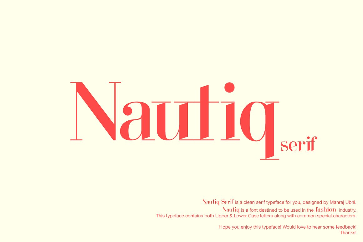 Make a Statement With These Unique Fashion Fonts ~ Creative